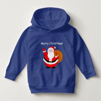 Fun modern cartoon of a jolly Santa Claus, Hoodie