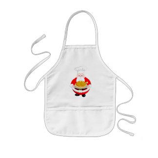 Fun modern cartoon, Santa Claus dressed as a chef, Kids Apron
