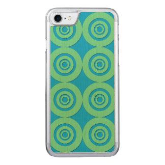 Fun Modern Circles MInt Green Aqua Pattern Carved iPhone 8/7 Case