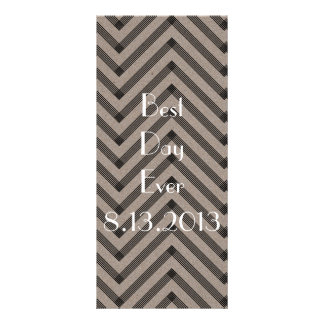 Fun & Modern Kraft Wedding Program 10 Cm X 23 Cm Rack Card