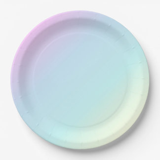 Fun & Modern Pastel Pink,Blue,Green,Yellow Party 9 Inch Paper Plate