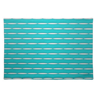 Fun Modern Teal and White Pattern Placemats