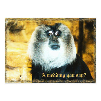 Fun Monkey Photo Zoo Wedding Invitations