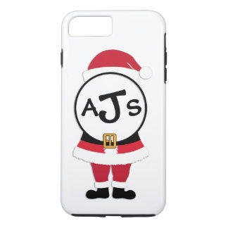 Fun Monogram Santa Christmas iPhone Case