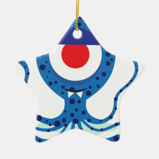 Fun Monster Squid Design Ceramic Star Decoration