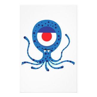 Fun Monster Squid Design Personalized Stationery