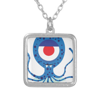 Fun Monster Squid Design Silver Plated Necklace