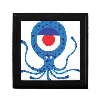 Fun Monster Squid Design Small Square Gift Box