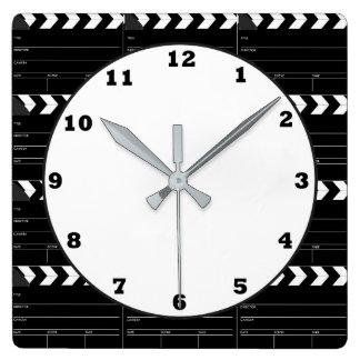 Fun Movie clapboard pattern theater clock