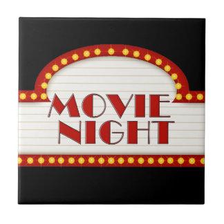 Fun Movie Night word art Theater room tile