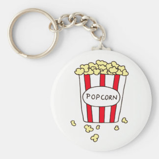 Fun Movie Theater Popcorn in Bucket Favors Key Ring