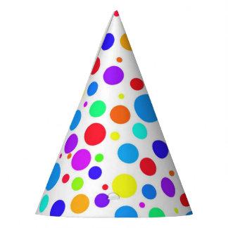 Fun Multi Colored Spots Party Hat