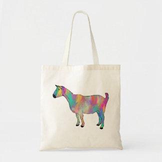 Fun Multicoloured Goat Painting Animal Art Design Tote Bag