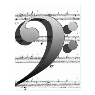 Fun Music Clef Music Gifts for Music Teachers Postcard