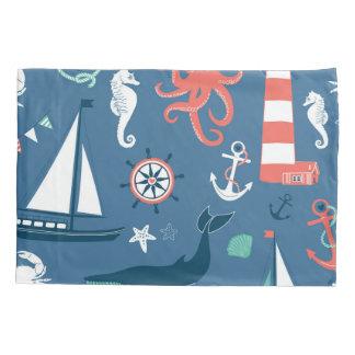 Fun Nautical Graphic Pattern Pillowcase