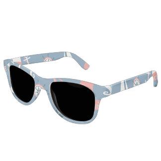 Fun Nautical Graphic Pattern Sunglasses