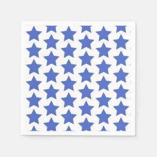 Fun Navy Blue Stars Pattern Paper Napkins