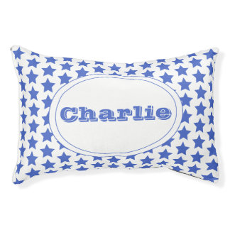 Fun Navy Stars Pattern Personalized Indoor Dog Bed
