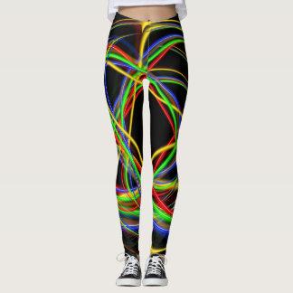 Fun Neon Strands Leggings