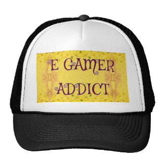 Fun Novel Yellow 'E Gamer Addict Cap