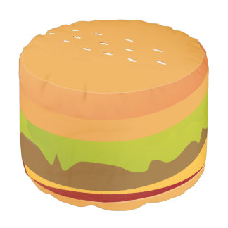 Fun Novelty Cheese Burger With Lettuce Pouf