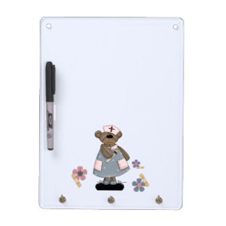 Fun Nurse Teddy Bear Design Gift Dry Erase Board