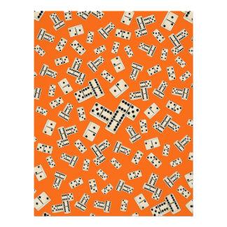 Fun orange domino pattern flyer