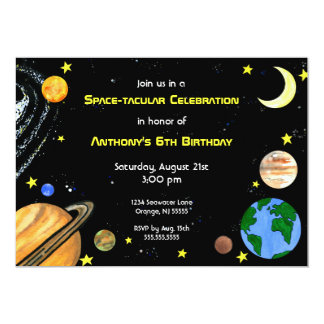 Fun Outer Space Invitation
