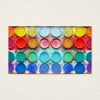Fun paint color box business card