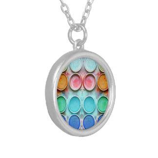 Fun paint color box personalized necklace