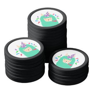 Fun Party Emoji Llama Poker Chips