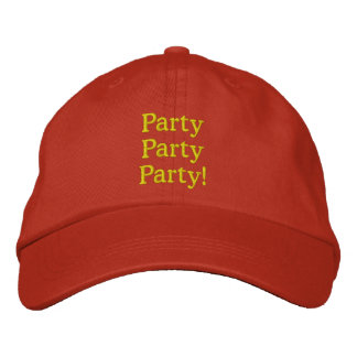 Fun Party Hat! Embroidered Hat