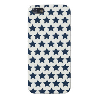 Fun Patriotic Navy Blue Stars 4th of July Pattern iPhone 5 Cover