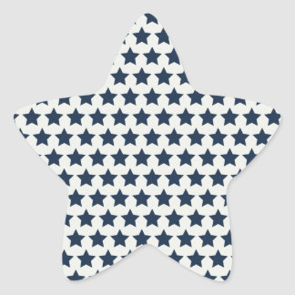 Fun Patriotic Navy Blue Stars 4th of July Pattern Star Sticker