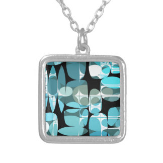 Fun Pattern 06 Silver Plated Necklace