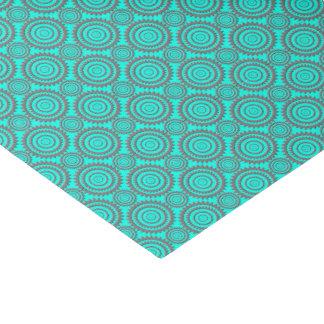 Fun Pattern Aqua Grey Circles Geometric Art Tissue Paper