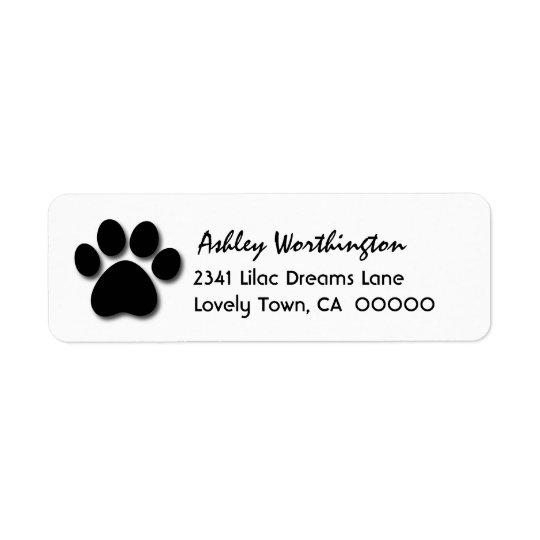 Fun Paw Print for Dog Lover V01 Return Address Label