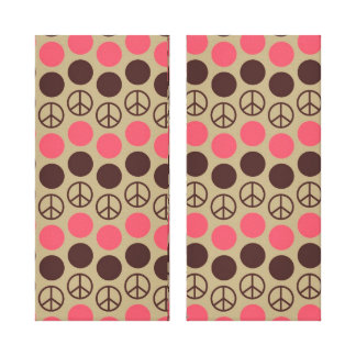 Fun Peace Sign Gallery Wrapped Canvas