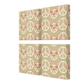 Fun Peace Sign Canvas Print