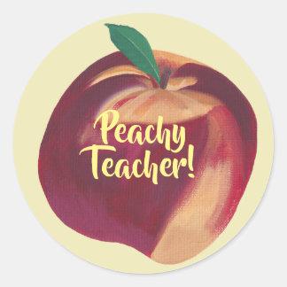 Fun - Peachy Teacher - Peach Stickers