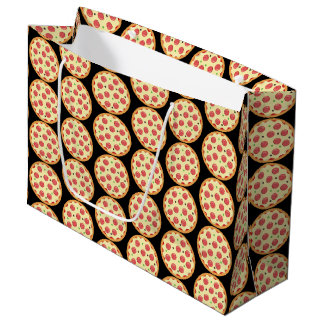 Fun Pepperoni pizza party gift bag tiled