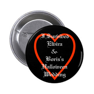 Fun Personalised Halloween Wedding Favours 6 Cm Round Badge