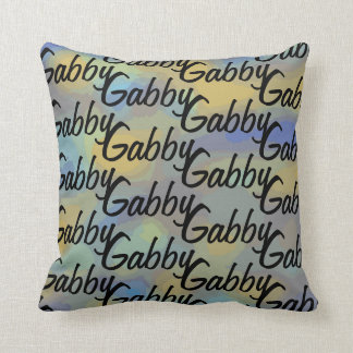 Fun Personalised Your Name All Over Pattern Throw Pillow