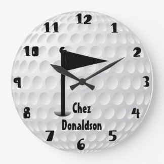Fun Personalized Golf Large Clock