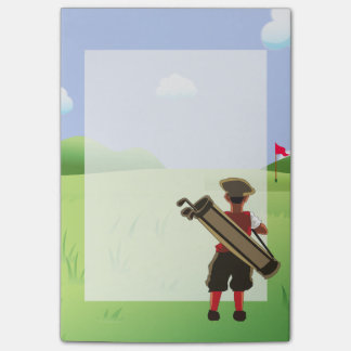 Fun Personalized Golfer on golf course Post-it® Notes