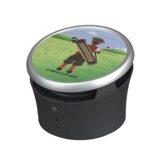 Fun Personalized Golfer on golf course Speaker