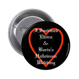 Fun Personalized Halloween Wedding Favors 6 Cm Round Badge