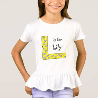 Fun Personalized Letter L Girls Name T-Shirt