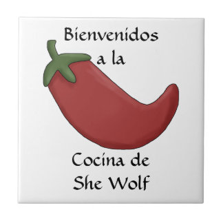 Fun Personalized Name Spanish Kitchen Welcome Tile