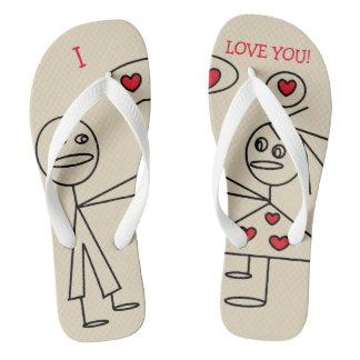 Fun Personalized Stick Figure Couple in Love Thongs